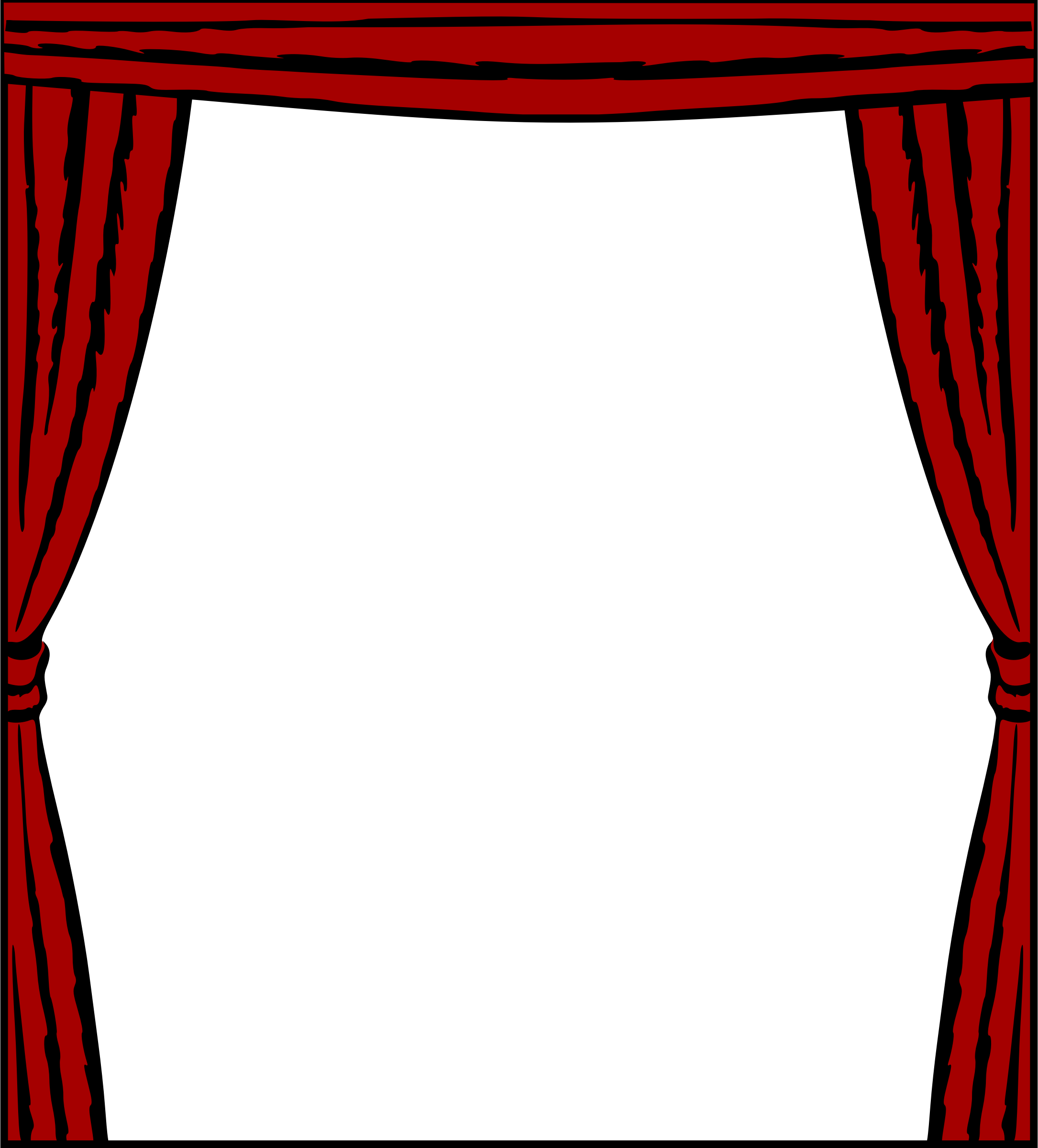 Stage transparent photo frame. Curtain icons png free