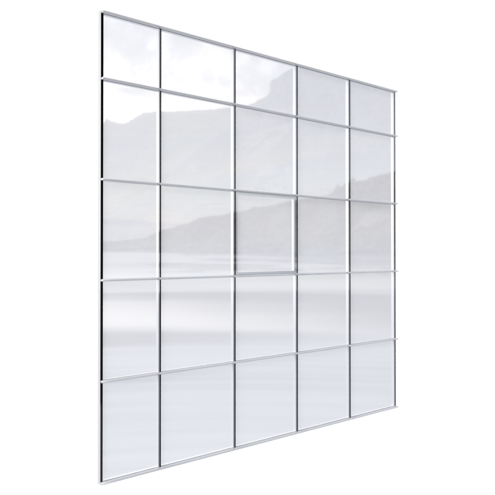 Curtain wall png. Cad and bim object