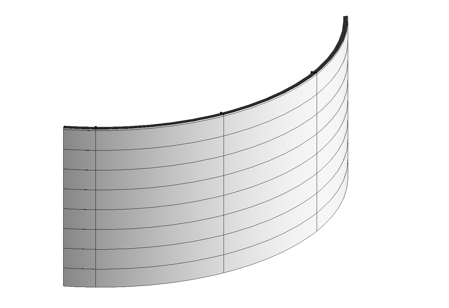 Curtain wall png. Modelling a truly curved