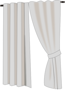 Curtains clip art at. Curtain clipart black and white png free
