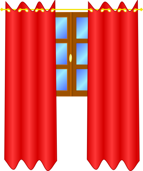 Curtains clipart. Window with panda free jpg library stock