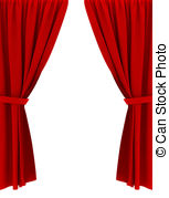 Red clip art and. Curtains clipart jpg black and white library