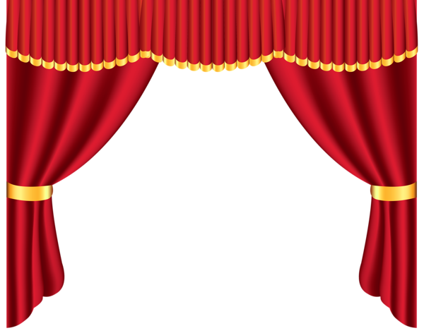 Curtains clipart. Transparent red curtain png