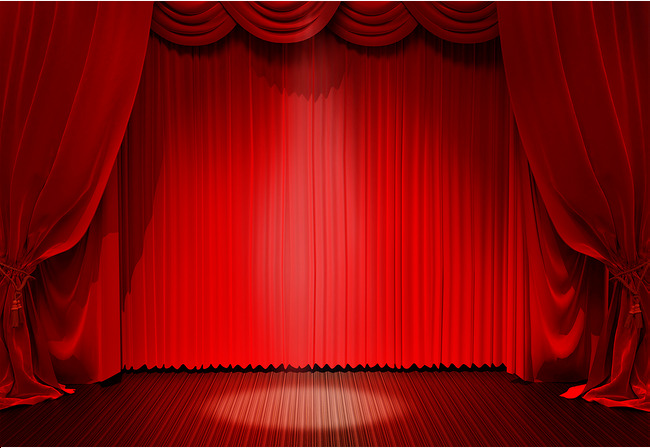 Curtains clipart big red. Dome stage lighting curtain