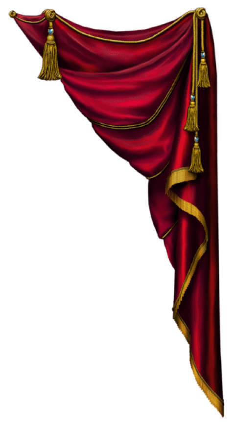 Curtains clipart big red. Download transparent curtain png