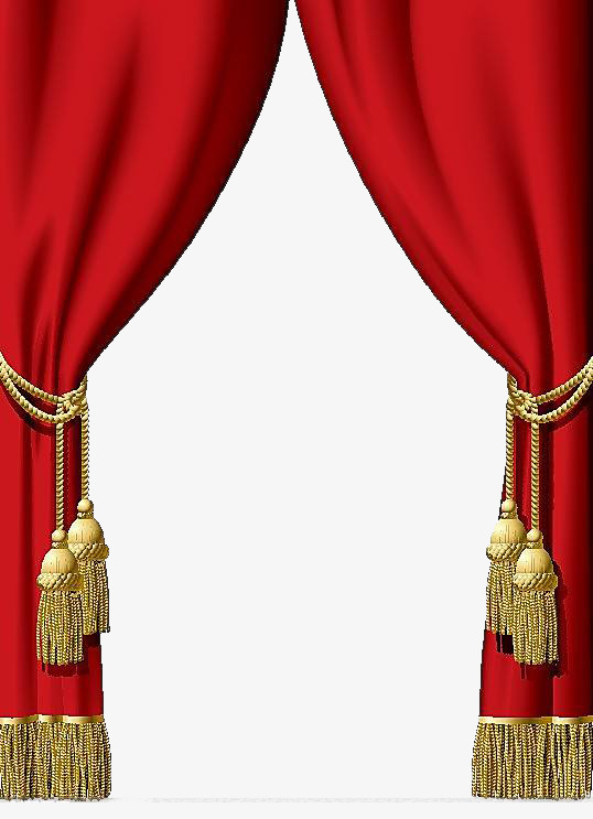 Curtains clipart big red. Wedding hook shading png