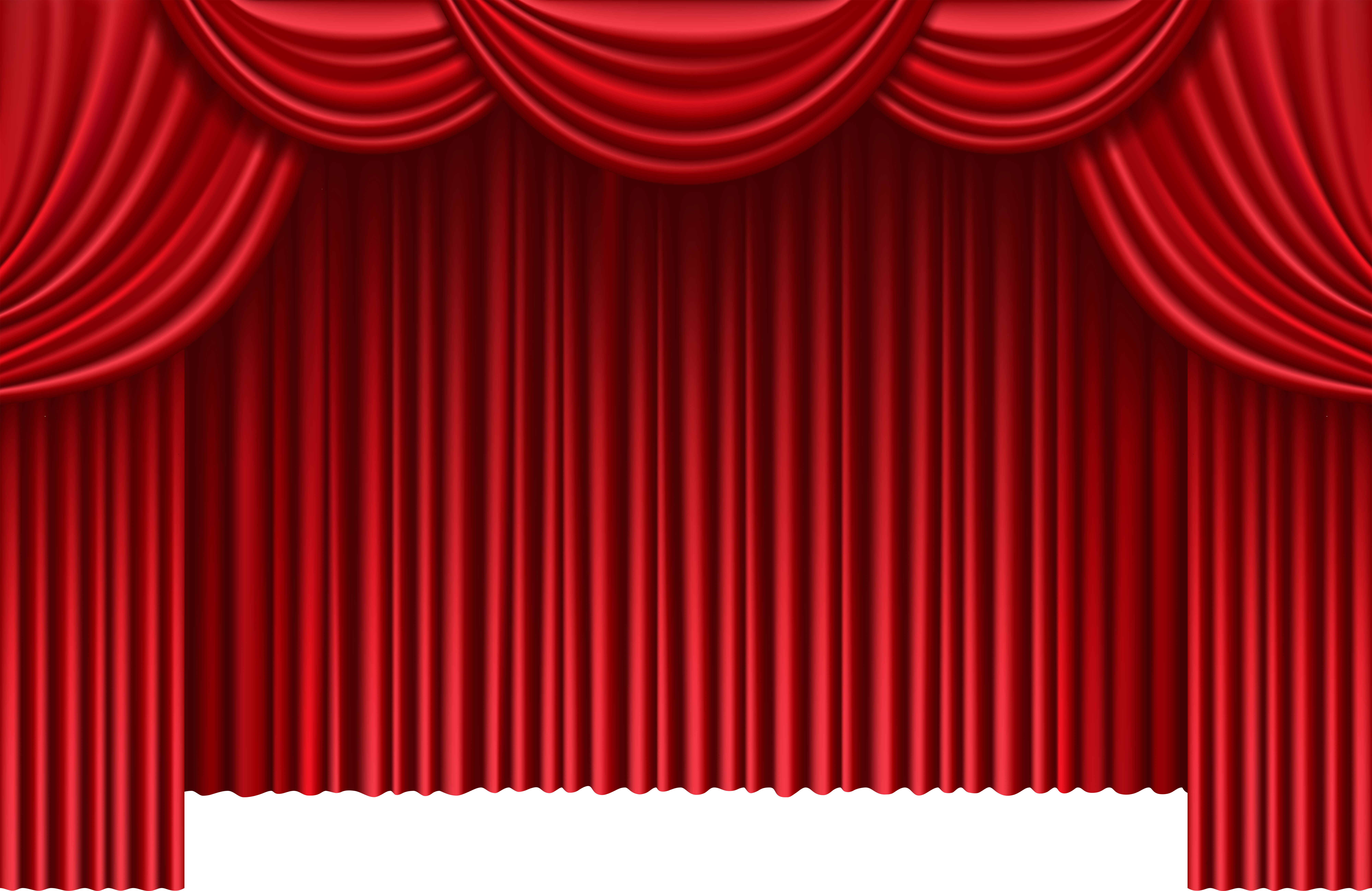 Curtains clipart big red. Theater png clip art