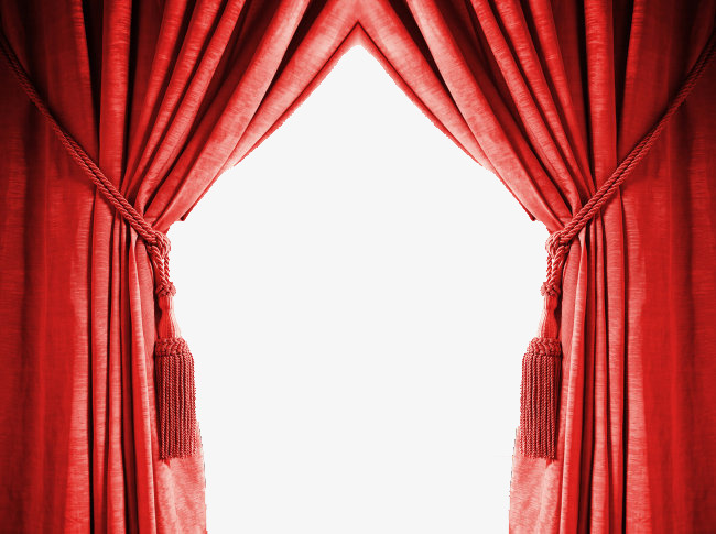 Curtains clipart big red. Curtain gules the png