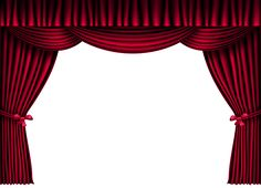 Curtains clipart curtain frame. Red image buda y
