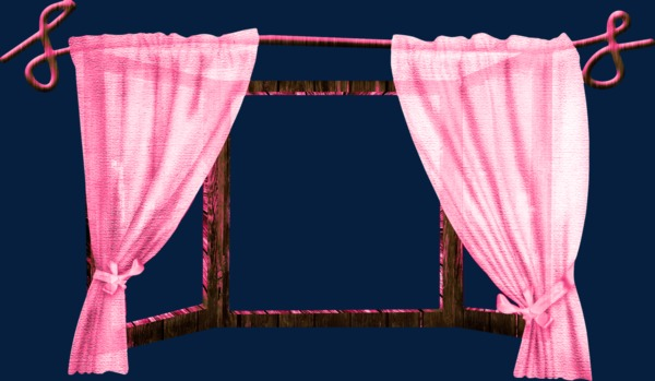 Curtains clipart curtain frame. Pink door png image