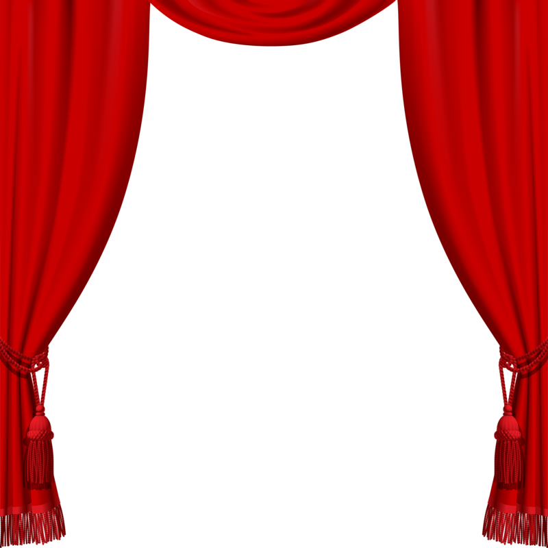Drapery clip layered. Curtains png clipart art