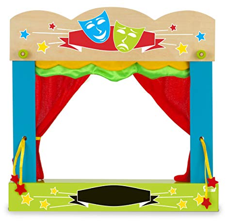 Curtains clipart puppet stage. Amazon com carry case