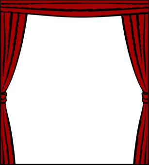 Theater vector pink curtain. Window treatment drapes and