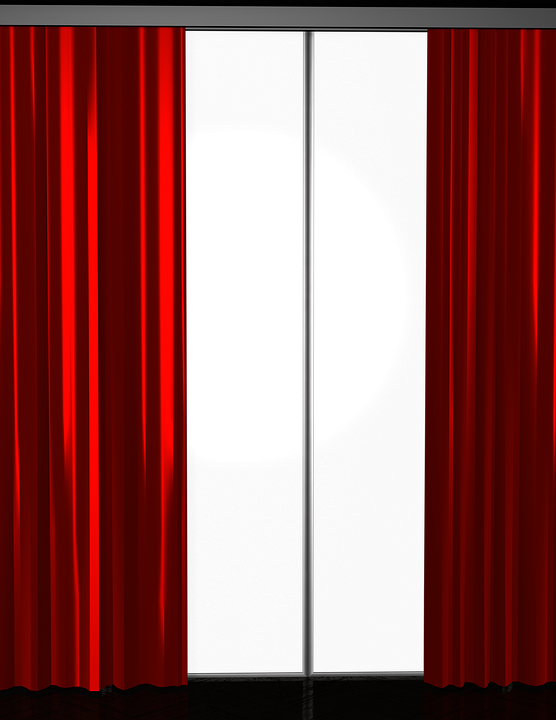 Curtains clipart room window. Free download clip art
