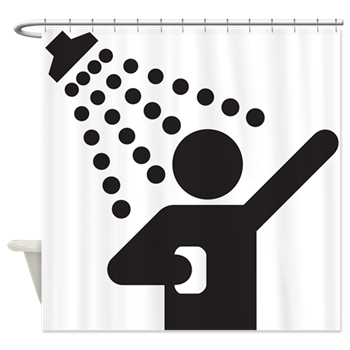Curtains clipart shower curtain. Funny motel sign decorator