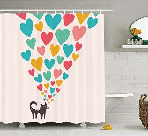 Cat lover a gift. Curtains clipart shower curtain vector freeuse stock