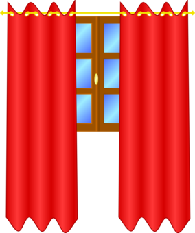 Computer icons door curtain. Curtains clipart simple window royalty free library