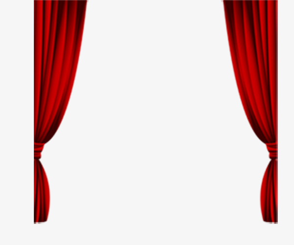 Curtains clipart simple window. Long curtain red png