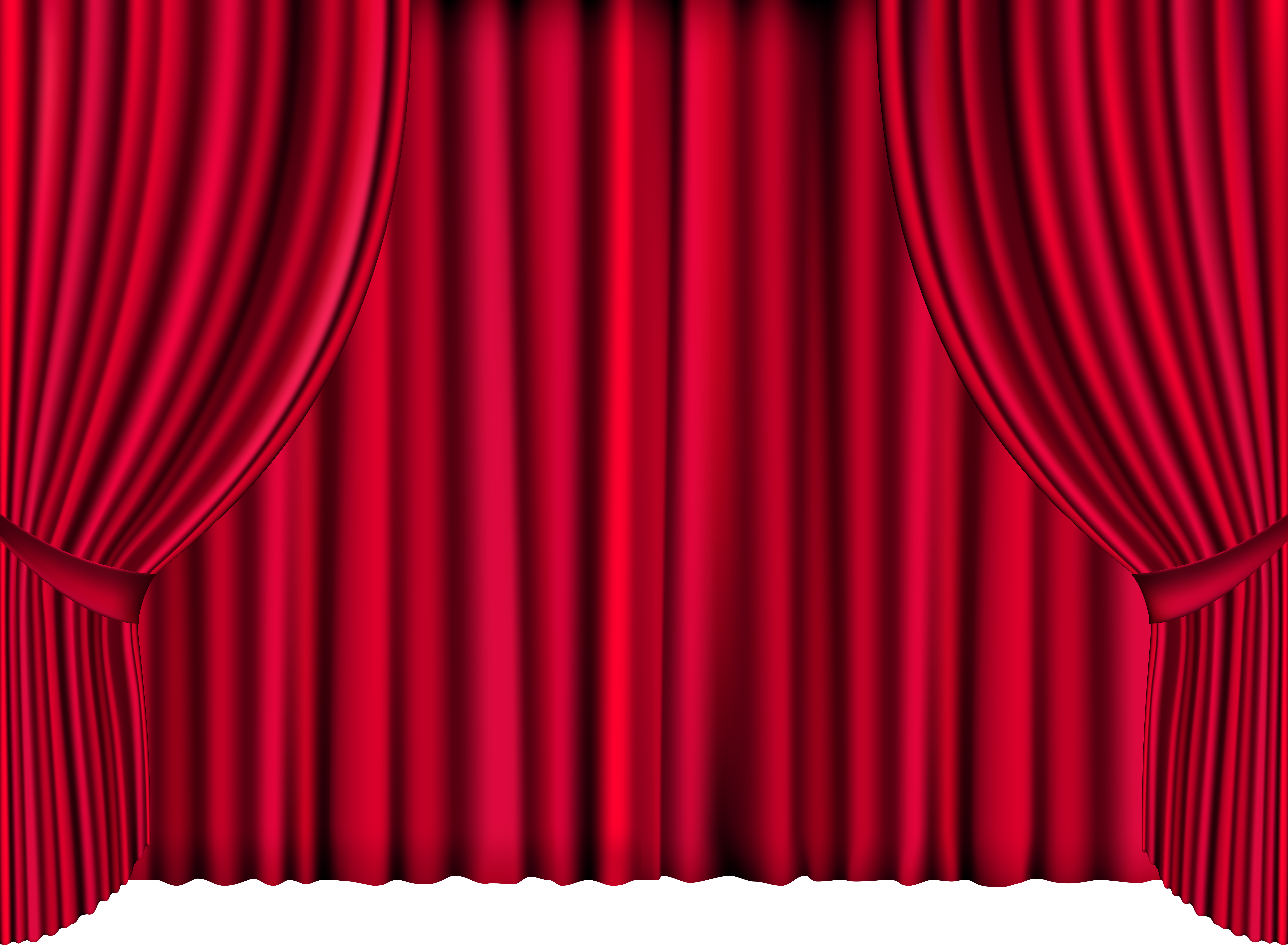 Red png clip art. Curtains clipart png library download