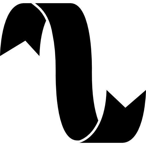 Curve shape png. Ribbon in black free