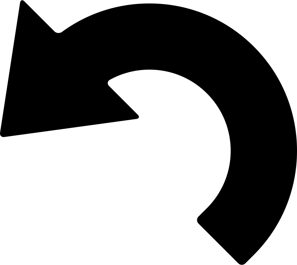 Curved arrows png. Left arrow svg icon
