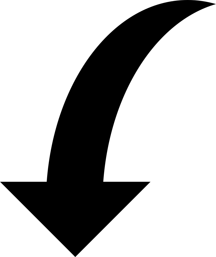 Curved arrows png. Down arrow svg icon