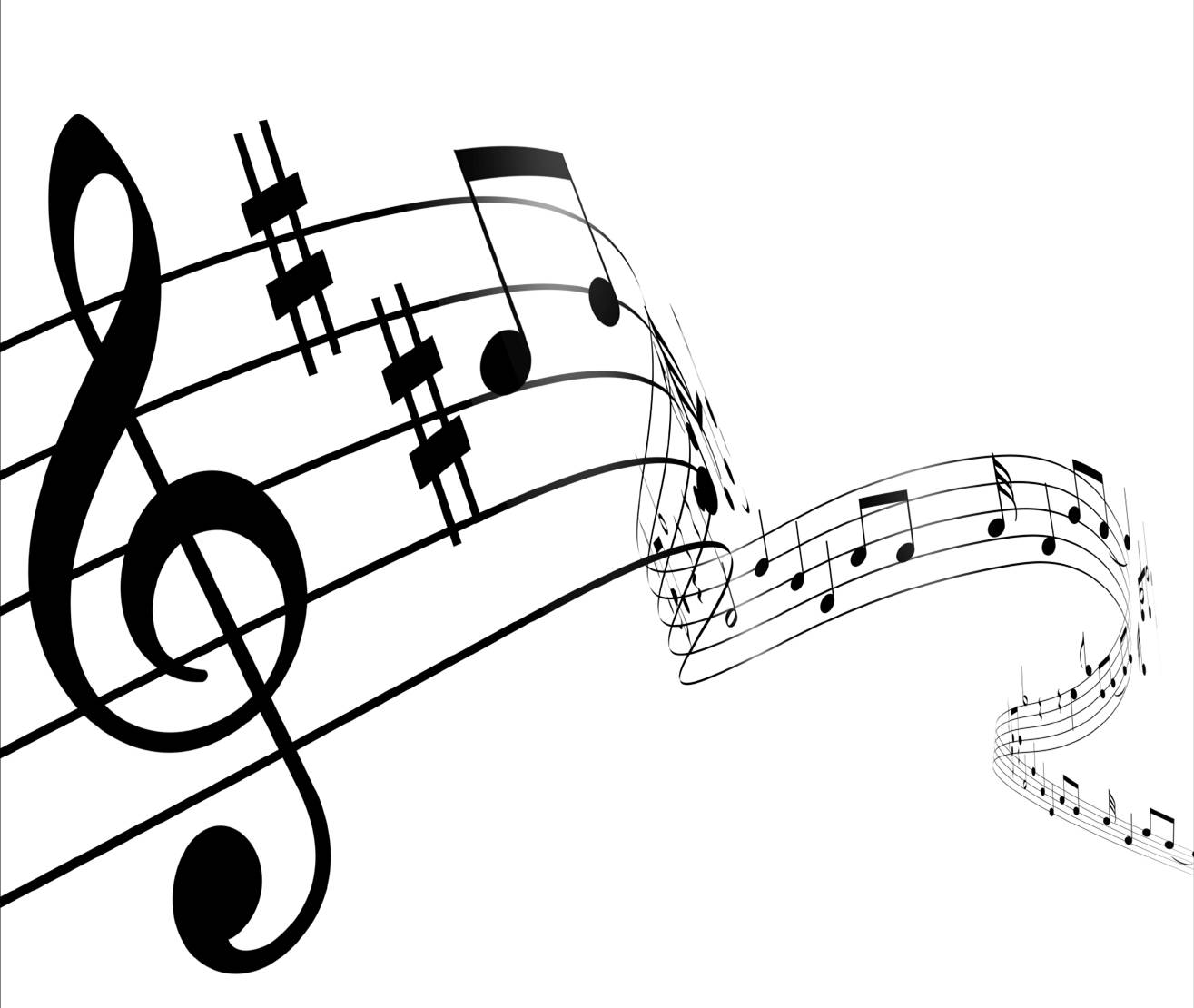 Curved clipart music staff. Wavy group image gallery