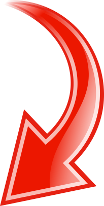 Curved clipart red arrow. Down signs symbol arrows