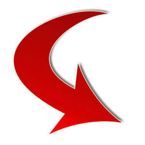 Red arrow png transparent. Small curve bottom right