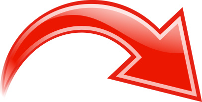 Curved clipart red arrow. Right signs symbol arrows
