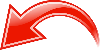 Curved clipart red arrow. Left signs symbol arrows