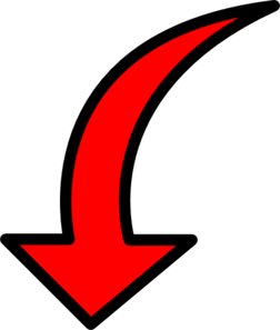 Curved clipart red arrow. Filled clip art at