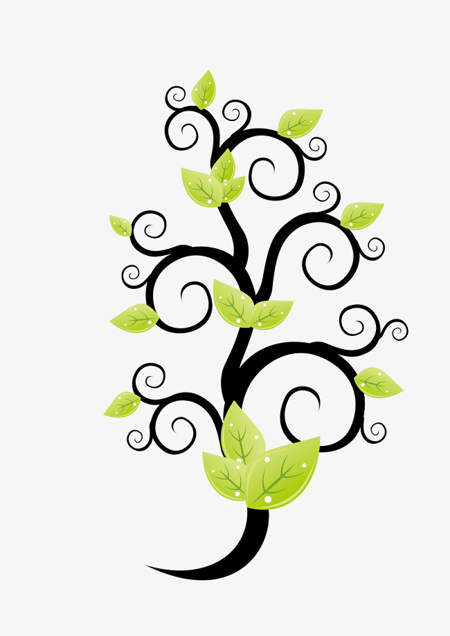 Curved clipart tree painting. Green trees hand painted