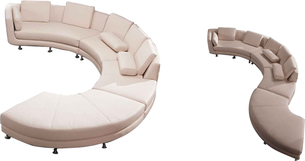 curved couch png