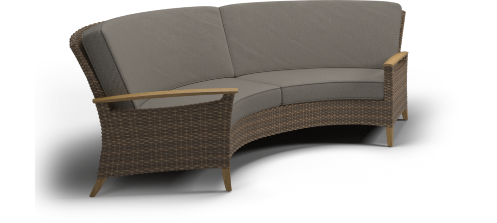 Curved couch png. Gloster pepper marsh sofa