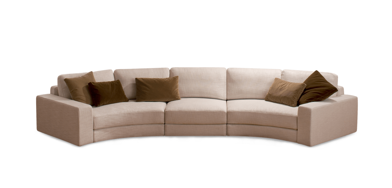 Curved couch png. Concerto modular sofa flexibility