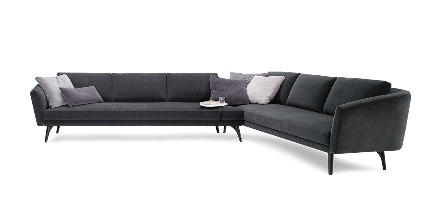 Curved couch png. King boulevard sofa modular