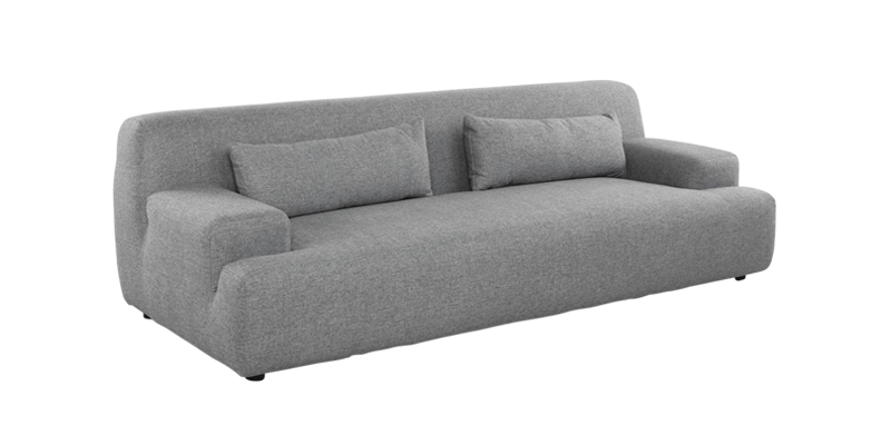 Curved couch png. Liberty three seater sofa