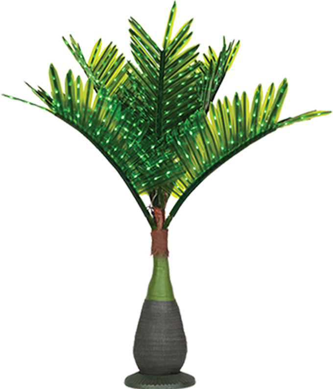 Curved palm tree png. Lighted trees decor yard