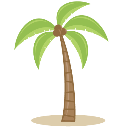 Curved palm tree png. Svg cutting files for