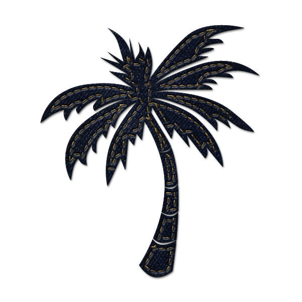 Curved palm tree png. No background clipart panda