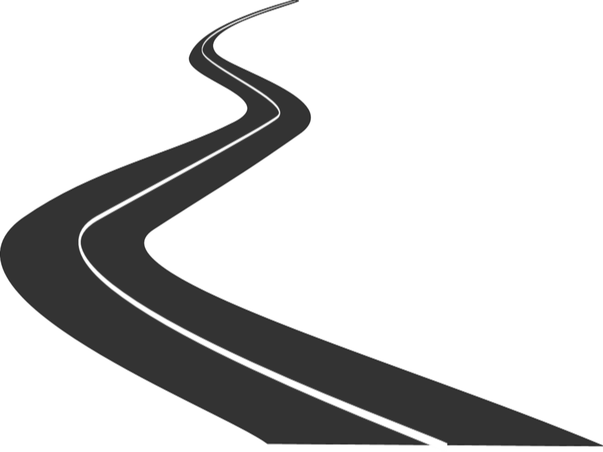 Curved road png. Collection of clipart