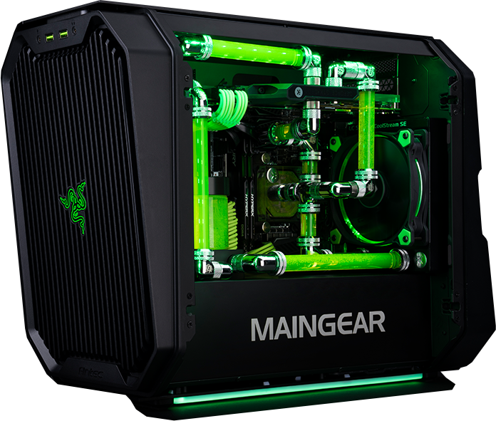 Maingear r razer edition. Custom built pc png black and white download