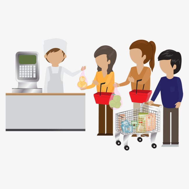 Supermarket people peoplecustomer staff. Customer clipart download