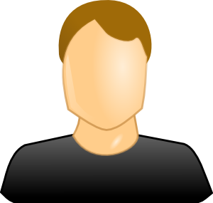 Customer vector user. Male clipart