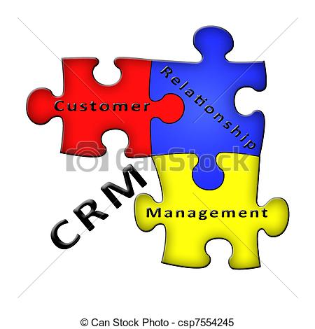 Customer clipart relationship manager. Management crm puzzle diagram clip art free library