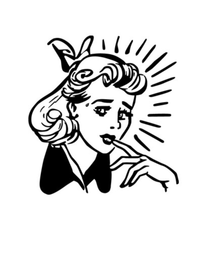 Customer clipart worried. Who says women need