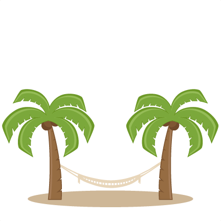 Cut clipart palm. Trees with hammock svg