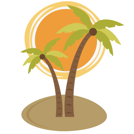 Palm tree sun png. With svg file for