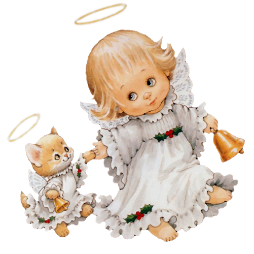 Cute angel png. With kitten free clipart